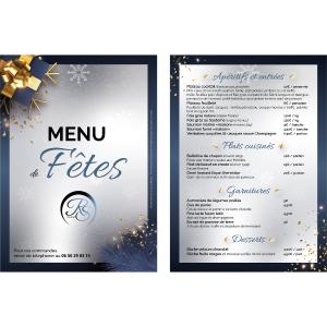 Créations graphiques : mene de fêtes (flyer recto-verso) réalisé par BTV MEDIA SUD